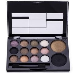 Professional 14 Warm Color Eye Shadow Palette Neutral Nude Eyeshadow Giltter Cosmetic Wholesale Makeup Palette Set M01096