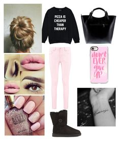 """""""Annabella"""" by ashlynl12323 on Polyvore featuring Boohoo, UGG, Massimo Castelli and Casetify"""