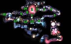 Illustrative map of level - Pacemaker part 1: Map - Tunnel 1 - Walkthrough - Unmechanical - Game Guide and Walkthrough