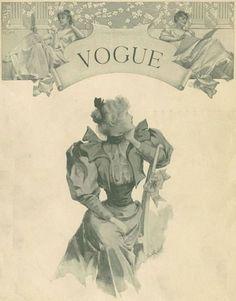 la primera portada de Vogue en 1892 mostraba un estilo de vida muy del siglo XIX