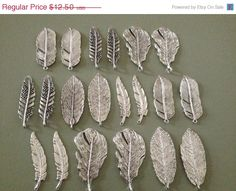 ON SALE Set of 20 Antique Silver Pendants Silver by thejourneysend, $11.25