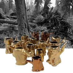 forest of holders for pocket lighter - marvellously impractical - Products - Kühn Keramik