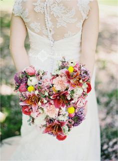Heart bouquet... Anthropologie wedding shoot