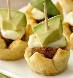Cheesy meatballs meet flaky crescents in savory little appetizers.#widget