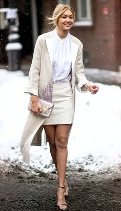 Gigi Hadid in winter whites