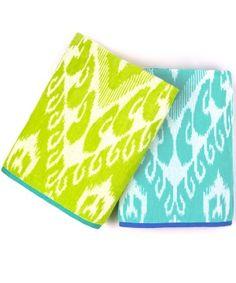 chevron ikat beach towel