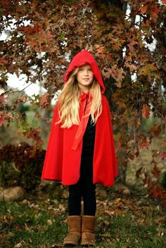 Keeping My Cents ¢¢¢: Homemade littel red riding hood costume
