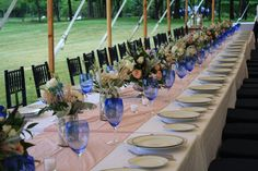 Long Table Centerpieces - Glenmere Mansion Wedding - Splendid Stems Floral Designs