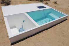 alfredo barsuglia and MAK center site social pool in remote area of the mojave desert