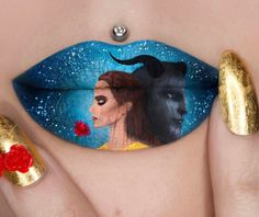 My all time favourite Disney movie has finally come alive! 😍 Beauty and the Beast inspired Lip Art 🌹 release… Lip Art, Lipstick Art, Lipsticks, Creative Eye Makeup, Eye Makeup Art, Lip Makeup, Lipstick Designs, Lip Designs, Make Up Designs