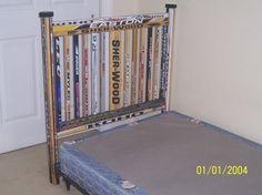 Hockey Stick Headboard....looks easier than the other hockey headboard I found.