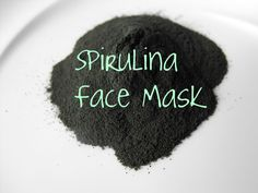 DIY Spirulina Face Mask - apparently everyone's skin looks amazing with this mask