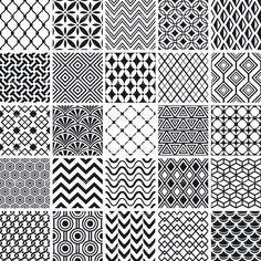 Set of simple geometric patterns. Geometric Patterns, Simple Geometric Pattern, Indian Patterns, Geometric Art, Textures Patterns, Stencil Patterns, Doodle Patterns, Zentangle Patterns, Pattern Art