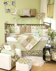 Gorgeous! Nature themed, soft colors, warm, colorful but not overpowering. Unisex baby room.
