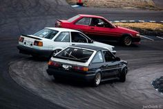 Ae86's on the slide