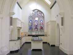 Kitchen in restored church- Charlestown Church, Ardee, County Louth, Ireland