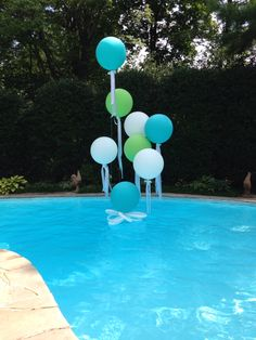 Cool pool on a hot day Pool Party Kids, Kid Pool, It's Your Birthday, Birthday Parties, Ideas Para Fiestas, Cool Pools, Balloon Decorations, Special Occasion, Balloons