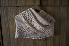 Celtic Myths wrap by Asita Krebs. I'm a sucker for intricate cables, and I'll plan this one of these days!   The pattern is FREE on Ravelry.