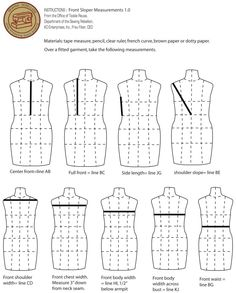Sewing Techniques Couture Taking measurements - Visit the post for more. Sewing Basics, Sewing Hacks, Sewing Tutorials, Sewing Tips, Sewing Ideas, Techniques Couture, Sewing Techniques, Dress Sewing Patterns, Clothing Patterns