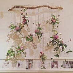No photo description available. Tropical Wedding Decor, Floral Wedding, Deco Floral, Floral Wall, Wedding Venue Decorations, Flower Decorations, Deco Champetre, Spiritual Decor, Flower Curtain