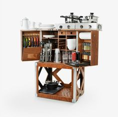 multifunktionale mobile Küche extravagantes Design