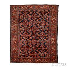 Hamadan Rug, Northwest Iran, c. 1920, 6 ft. 7 in. x 5 ft. 4 in. | Skinner Auctioneers Sale 2884B