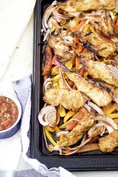Easy sheet-pan chicken fajitas