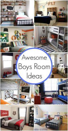 Grey bunk bed room.