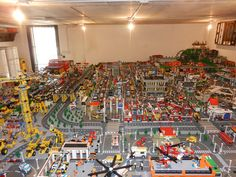 Giant Lego city - 30 Square meters. Fills an entire basement and took six years to build. This entire creation is listed for sale on eBay for 22k dollars! Plus 1,300 shipping. Very cool!