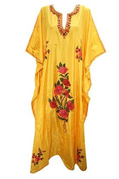 Mogul Womens Silk Kaftan Kashmiri Embroidered Yellow Caftan Xxxl Mogul Interior http://www.amazon.com/dp/B015OGAHC0/ref=cm_sw_r_pi_dp_uhCawb03WV7MG