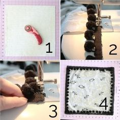 directions for making a pom pom trim throw pillow