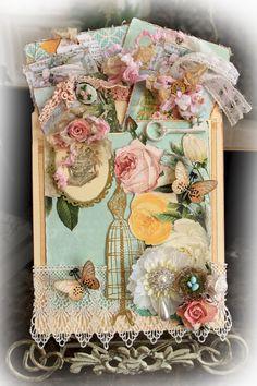 Vintage Memories Scrapbook  File Folder Tag Pocket Album Journaling Memory Keeper, Mini Album