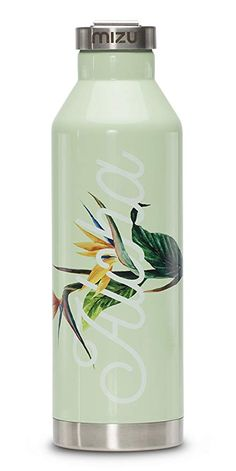 af151164e3d Mizu V8 Water Bottle Aloha Glossy Mint With Steel Cap, One Size Review