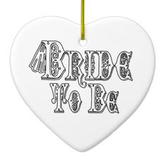 Bride To Be With Veil, Fancy White - Black Outline Christmas Tree Ornament   •   This design is available on t-shirts, hats, mugs, buttons, key chains and much more   •   Please check out our others designs at: www.zazzle.com/ZuzusFunHouse*