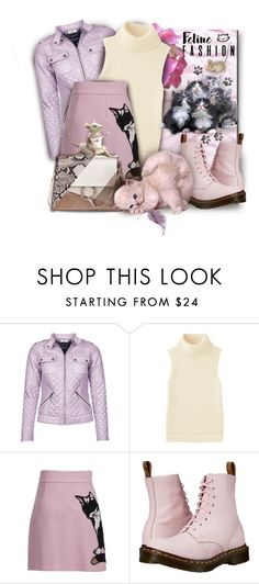 FG1914 by axenta on Polyvore featuring мода, Barbour International, Uniqlo, MSGM, Dr. Martens, Chloé, catstyle and axenta