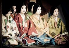 in Aoi Matsuri, people wear costumes of Late Heian period (around the 12th century). Kyoto, Japan 2011