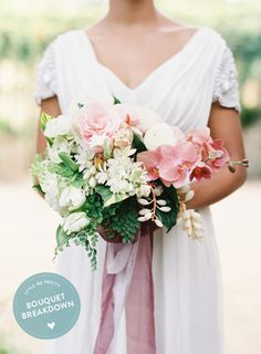 Boho pink bouquet.
