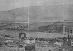 Here is a montage of old Athens, from 1845, with mount Hymetus in the distance. The hill in the center is the current site of the marble sta...