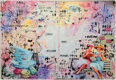 Χαρτοκατασκευές και Χαλάρωση!: art journal page