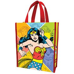 Wonder Woman Reusable Polymer Gift Bag (2 Sizes -- View #1 of 2), $4 to $6 via ThinkGeek.Com