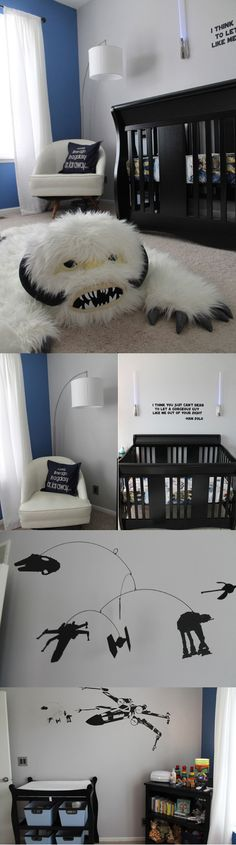 I absolutely love and want this for a baby boy. Love the black and white, not over the top. Classic.
