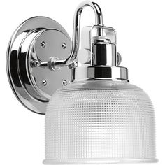 The Archie will update your bathroom with a sconce that's both on-trend and under budget.  A win, win right?  The strap and knob details and prismatic style glass shade feels retro, industrial and down right cool.