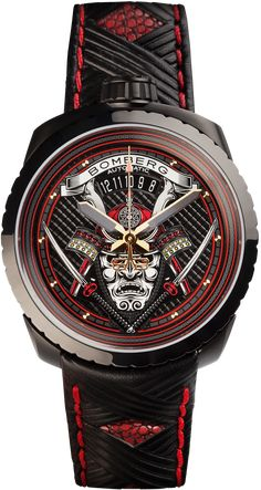 6afc802579d BOLT-68 Black and Red Samurai Automatic - BOMBERG - Defiant Swiss Made  Watches