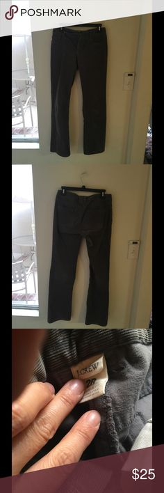 J. Crew corduroy pants In normal used condition, some fades, button mark, perfect with heels or boots J. Crew Pants Straight Leg