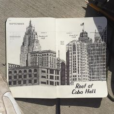 Drawing some buildings in the @shinola runwell planner  by eugenecarland