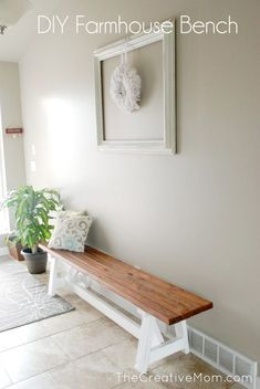 How to Build a DIY Farmhouse Bench (for under $20)