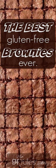 The best gluten free brownies ever