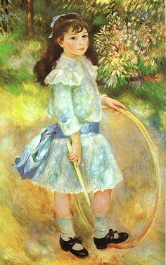 Garota com um bambolê (Marie Goujon), 1885, óleo sobre tela, National Gallery of Artm Washingto