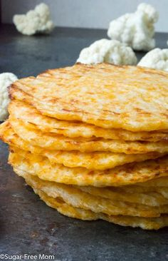 Low Carb Baked Cauliflower Tortillas (Gluten Free):