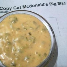 Copycat Mc Donald's Big Mac Sauce Ingredients 1cup Miracle Whip ½cup relish ⅓cup French dressing 1tablespoon sugar ¼teaspoon black pepper 1teaspoon minced onion